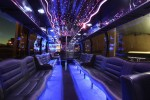 24 Passenger Party Bus Interior